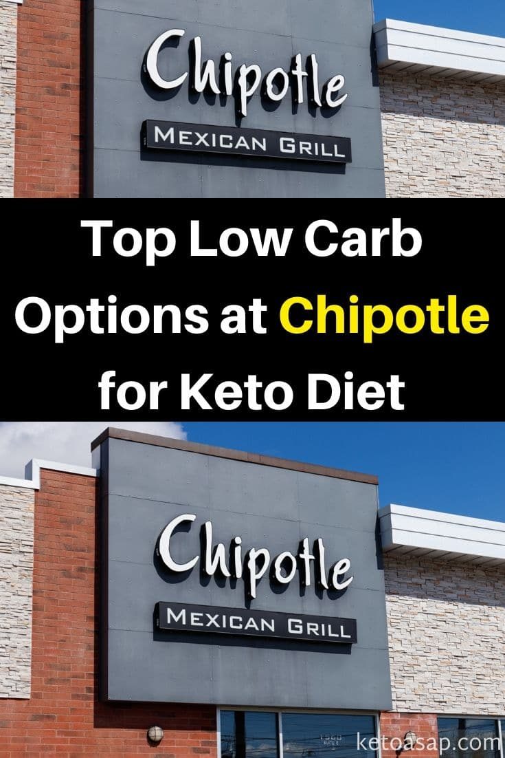 Here are the top low carb options you can order at Chipotle in order on the keto diet #Chipotle #ketoChipotle #lowcarbChipotle #ChipotleRestaurant #ketorestaurants #lowcarbrestaurants #ketodiet #lowcarbdiet