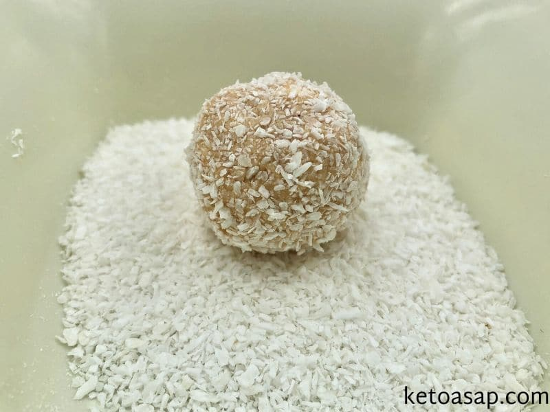 blend shredded coconut coat balls