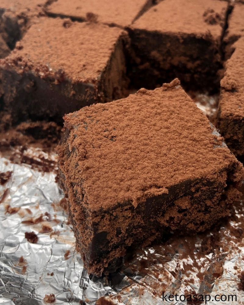 cut chocolate fudge into cubes