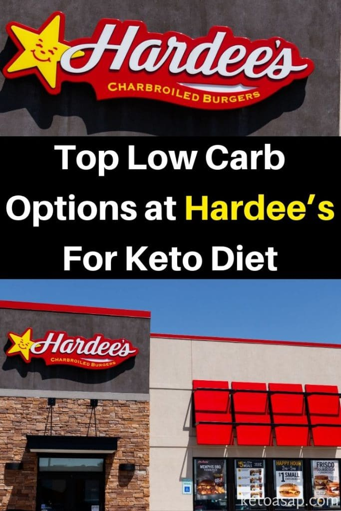 hardee's low carb options