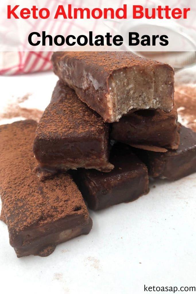 keto almond butter chocolate bars