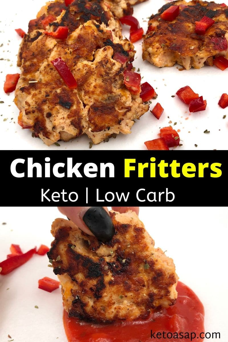 Keto Cheesy Chicken Fritters