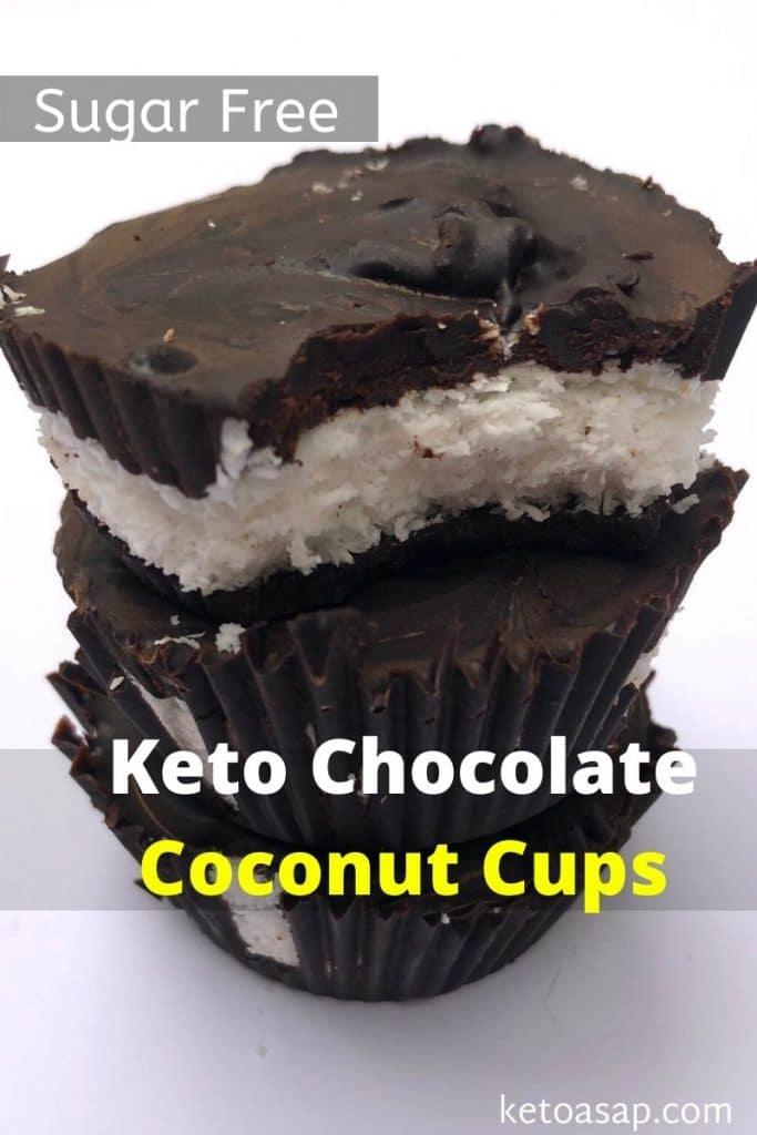 keto chocolate coconut cups