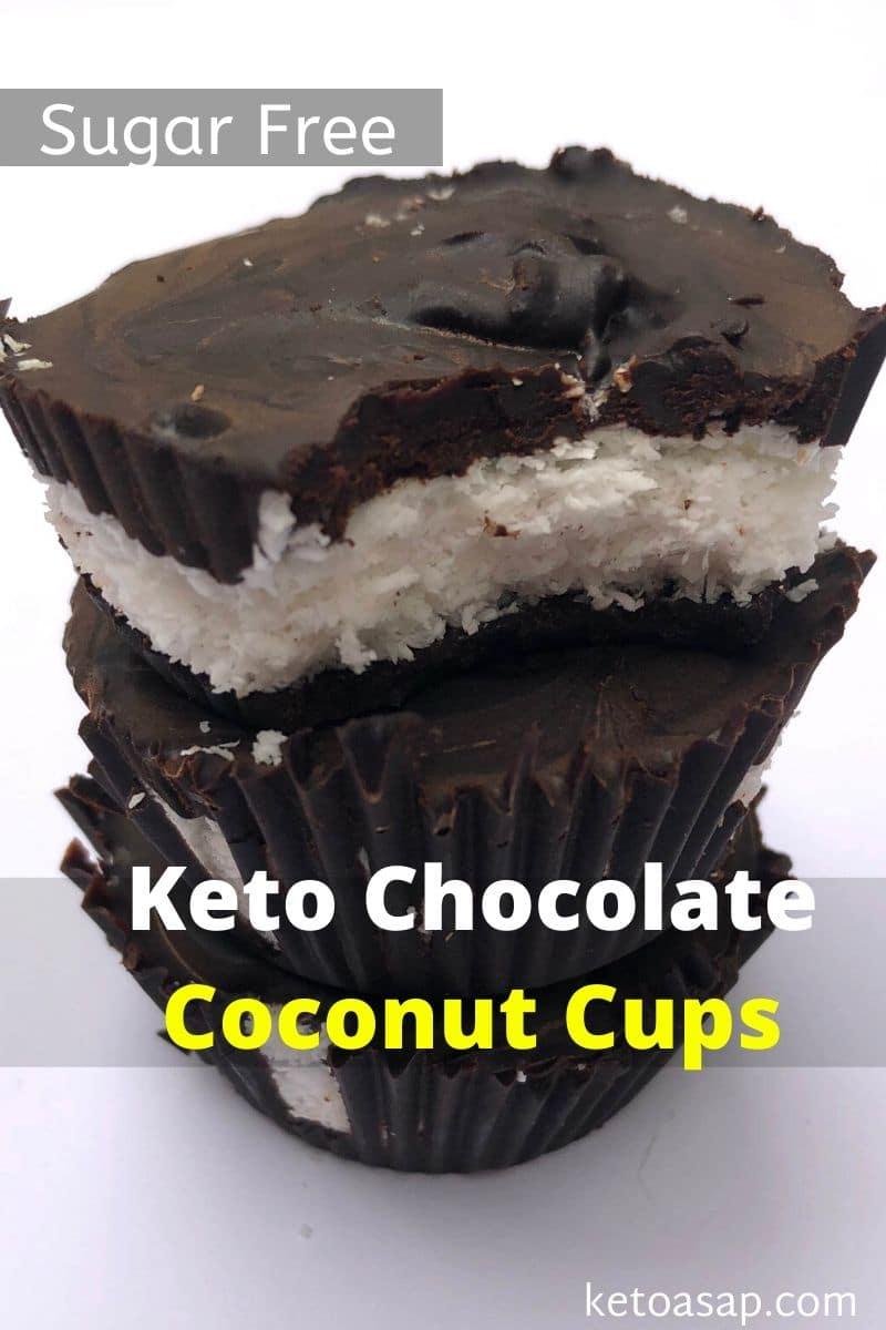 Sugar Free Chocolate Coconut Cups – Low Carb Keto-friendly