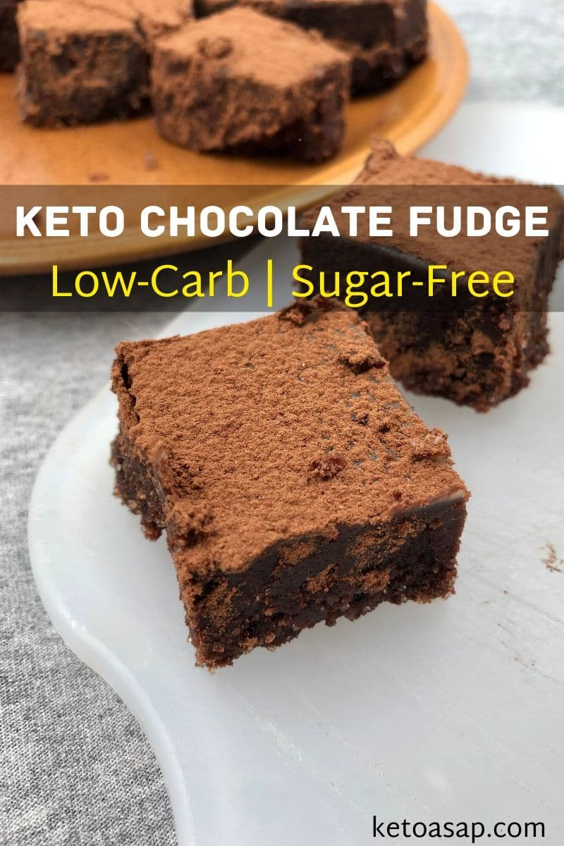 3-Ingredient Easy Keto Chocolate Fudge