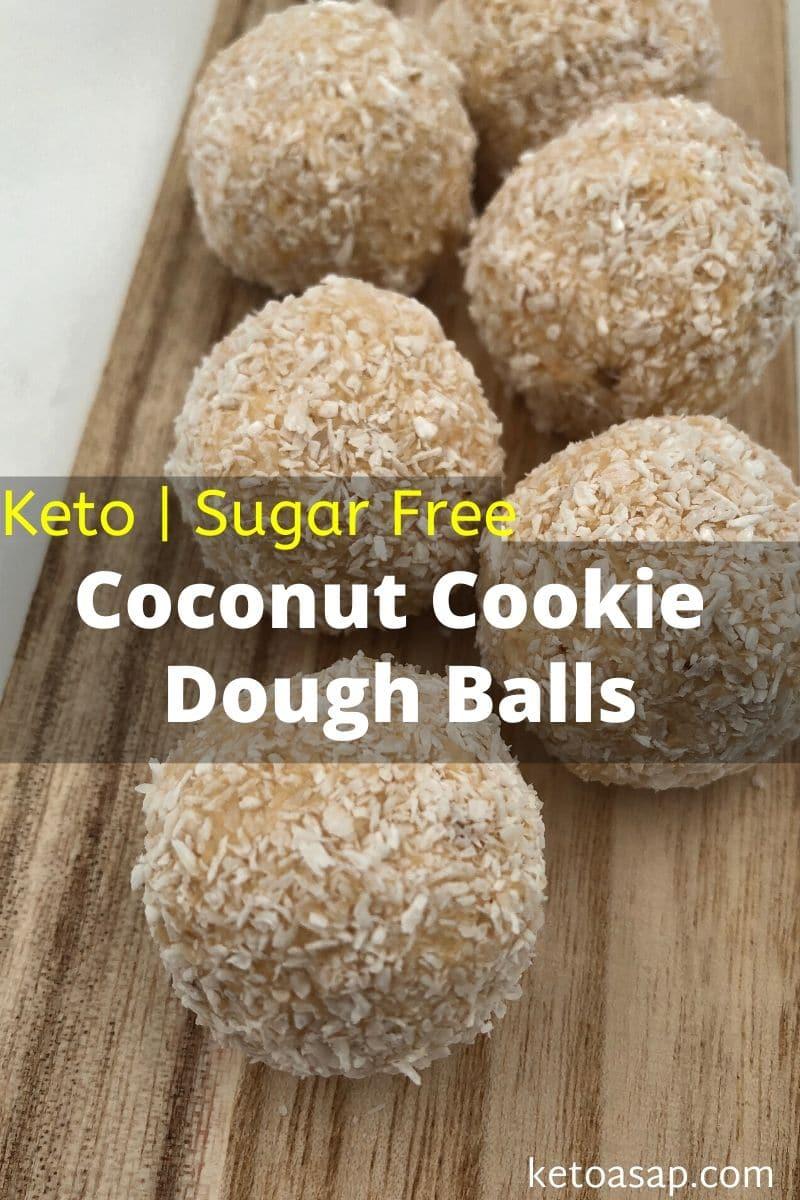 Coconut Cookie Dough Balls - Keto-friendly and Sugar-Free