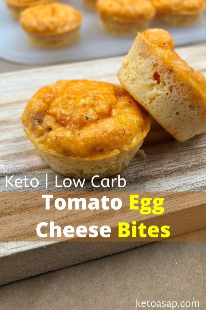 keto tomato egg cheese bites