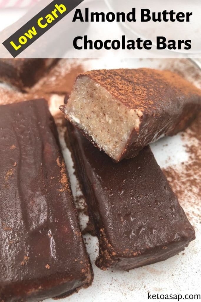 low carb almond butter chocolate bars