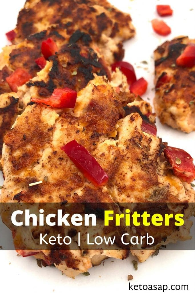 low carb chicken fritters