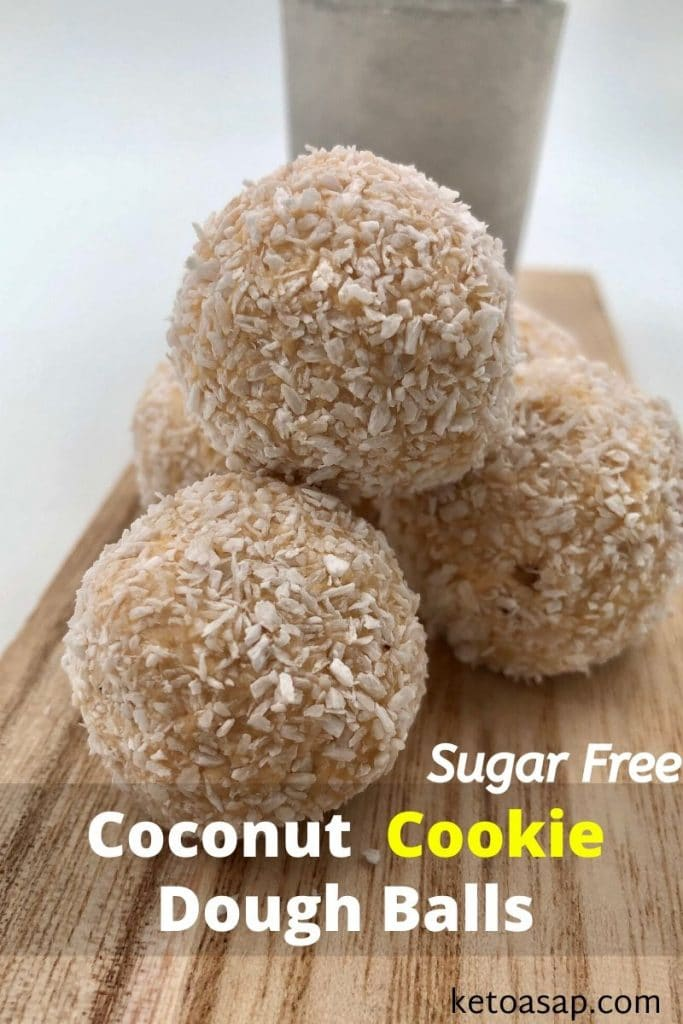 low carb coconut cookie dough balls