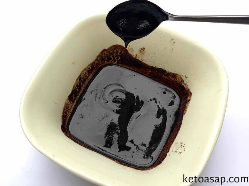 melt cocoa coconut oil sweetener