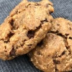 peanut flour chocolate cookies