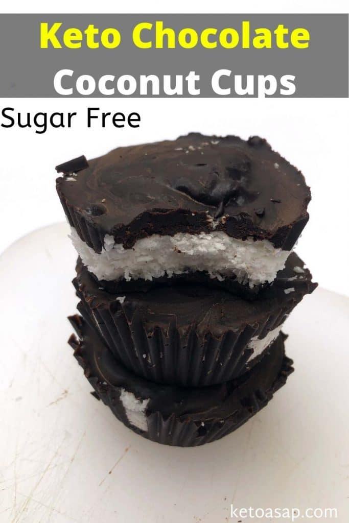 sugar free chocolate coconut cups
