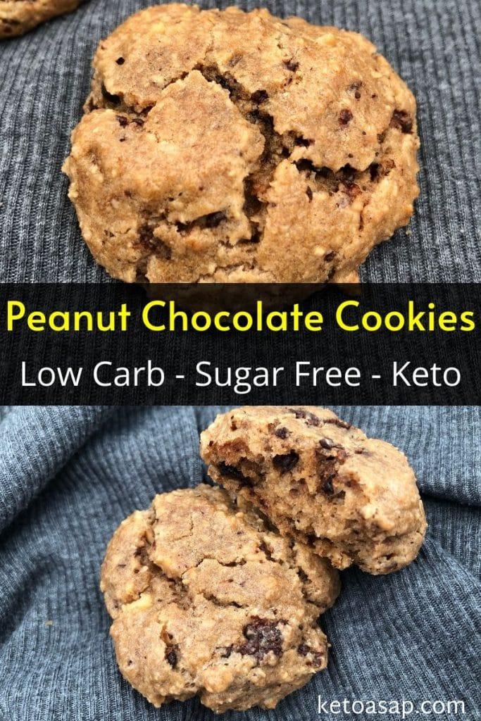 sugar free peanut flour chocolate cookies