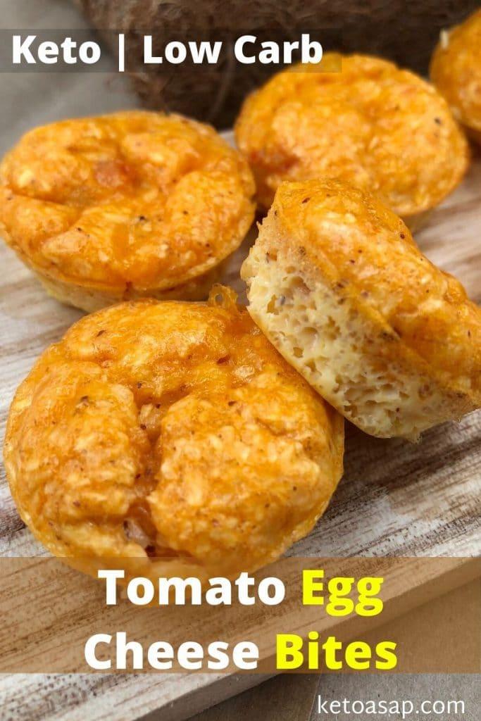 tomato egg cheese bites recipe
