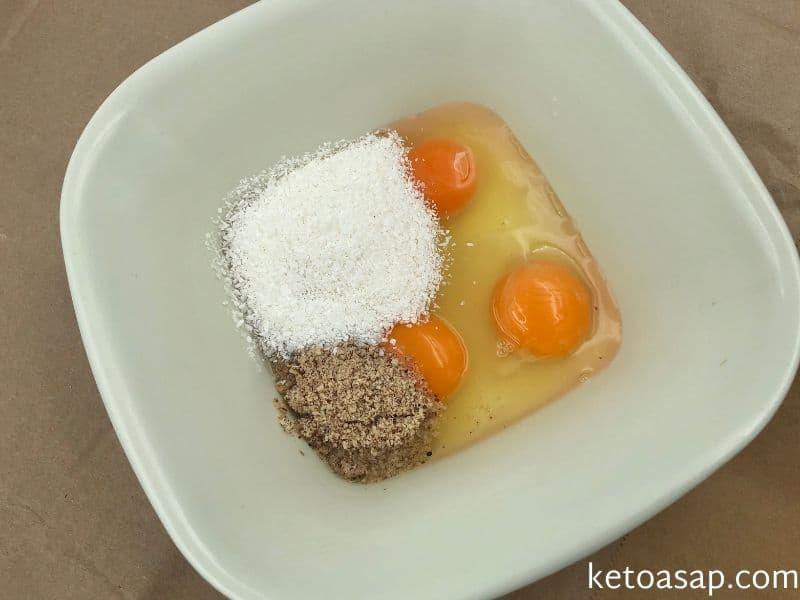 whisk eggs flour baking powder