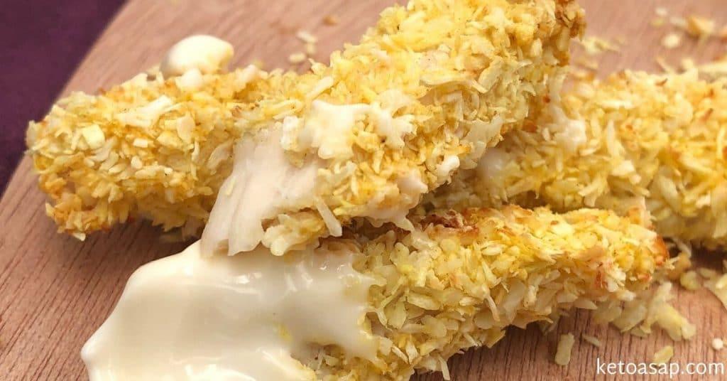 baked crispy coconut chicken tenders