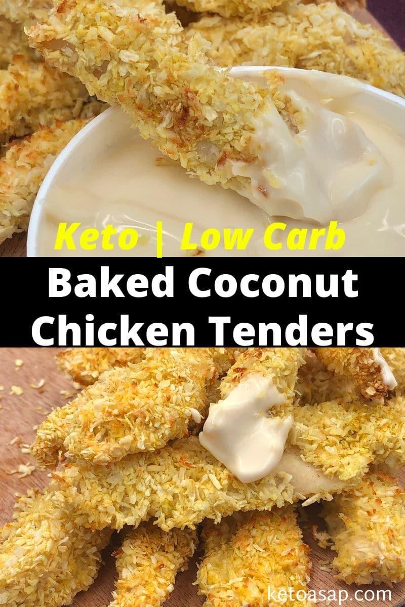 Keto Crispy Baked Coconut Chicken Tenders Low Carb  Recipe