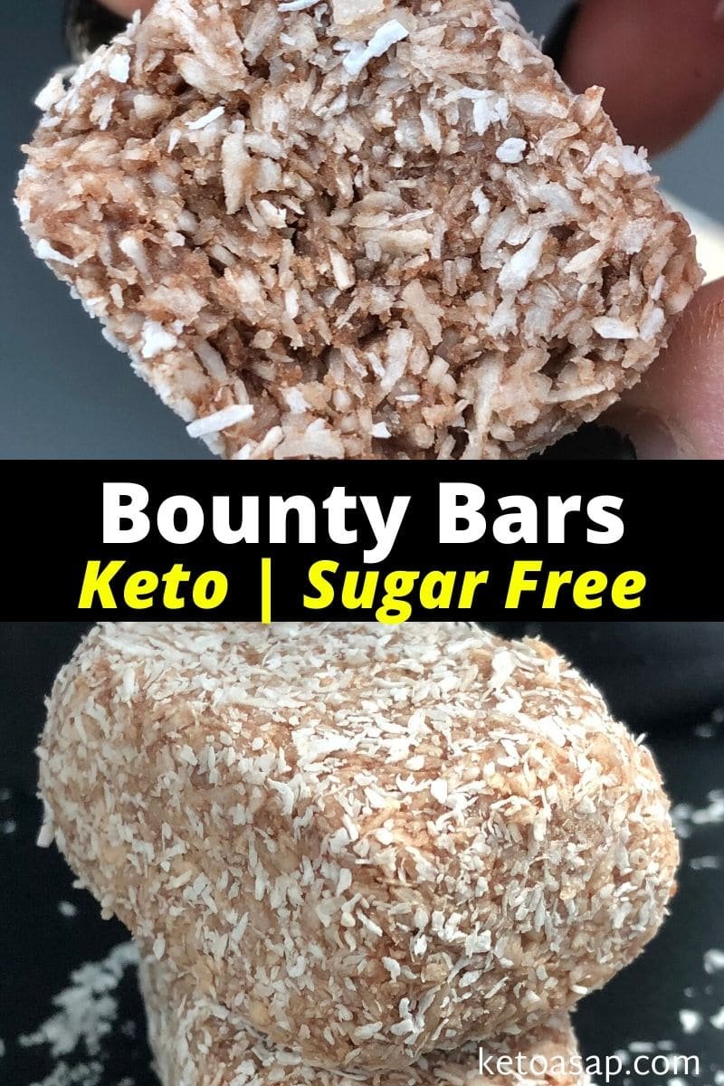 Keto Bounty Bars Sugar-Free Low Carb Recipe
