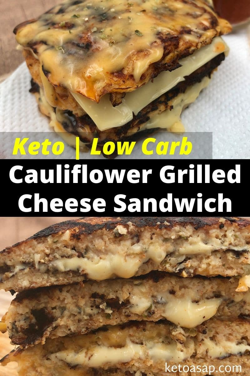 Keto Cauliflower Grilled Cheese Sandwiches Low Carb Recipe