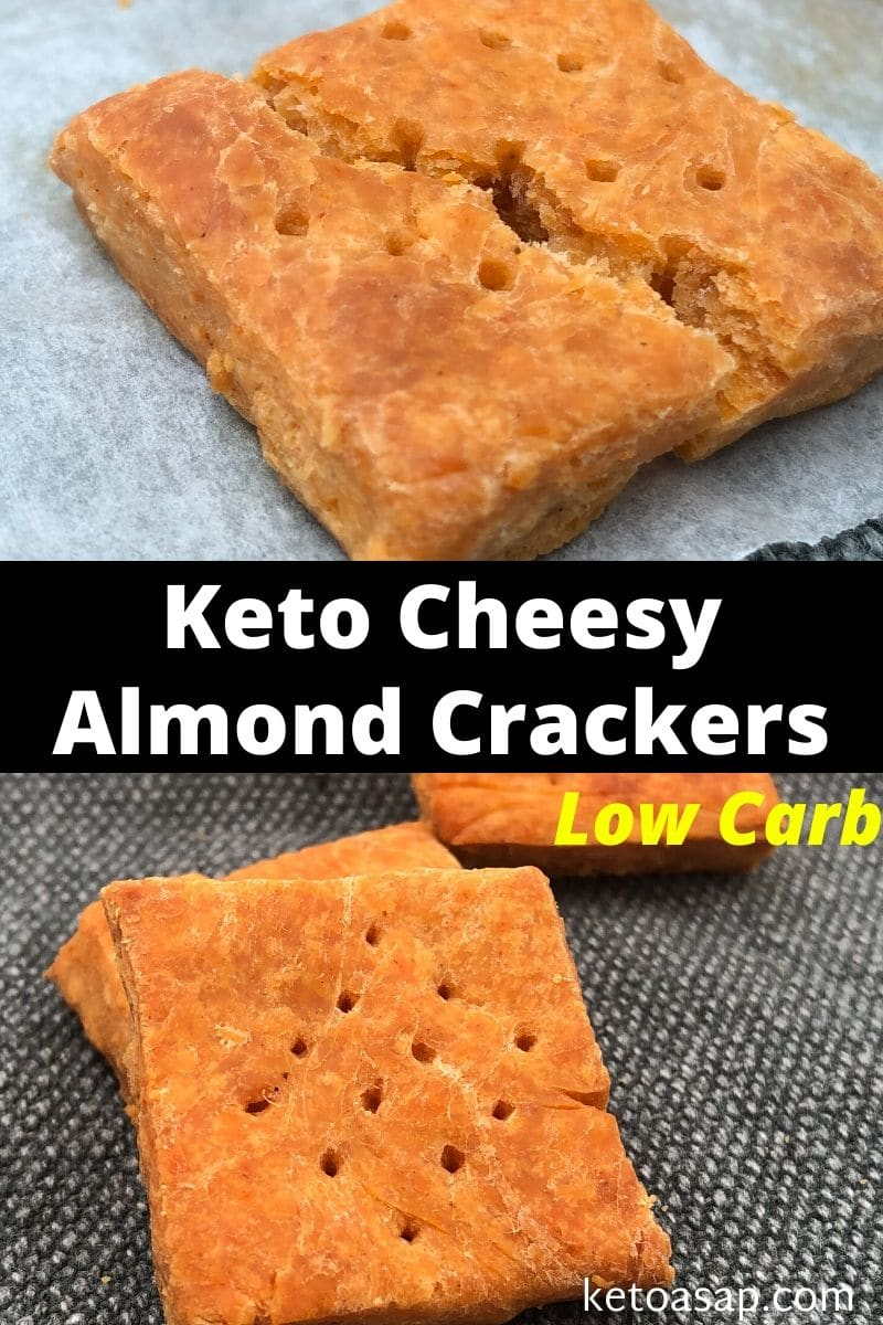 Keto Cheese Almond Crackers Low Carb Recipe
