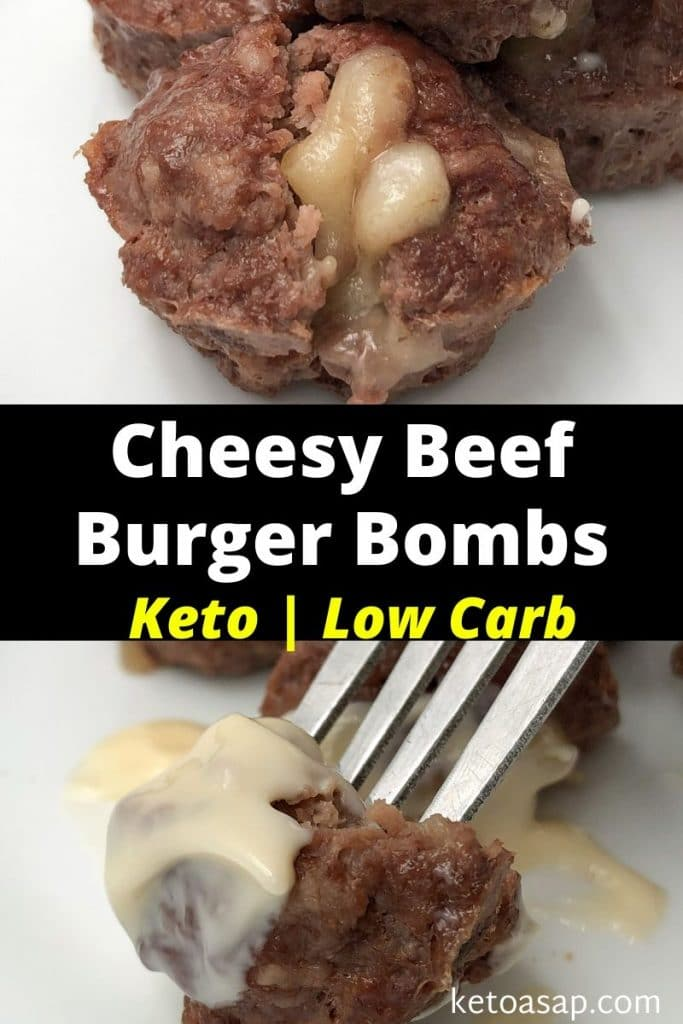cheesy beef burger bombs recipe