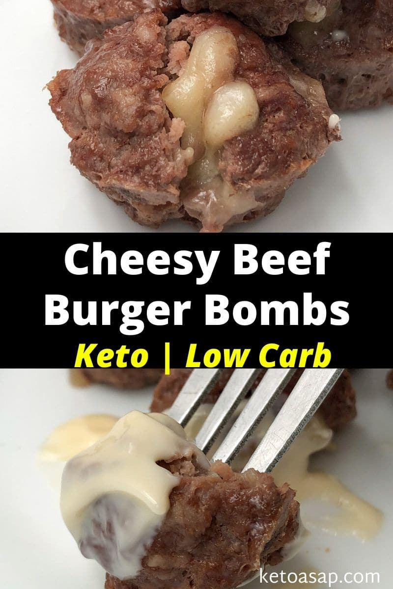 Keto Meatloaf Muffins (Cheesy Beef Burger Bombs)