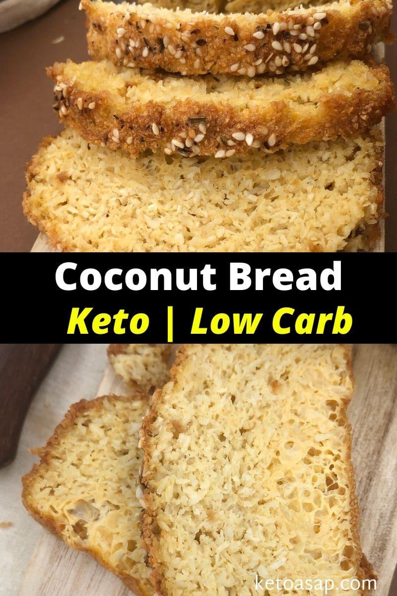 Keto Coconut Bread Low Carb Recipe