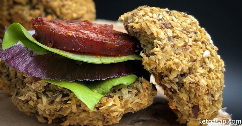 coconut flaxseed burger buns