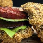 coconut flaxseed burger buns