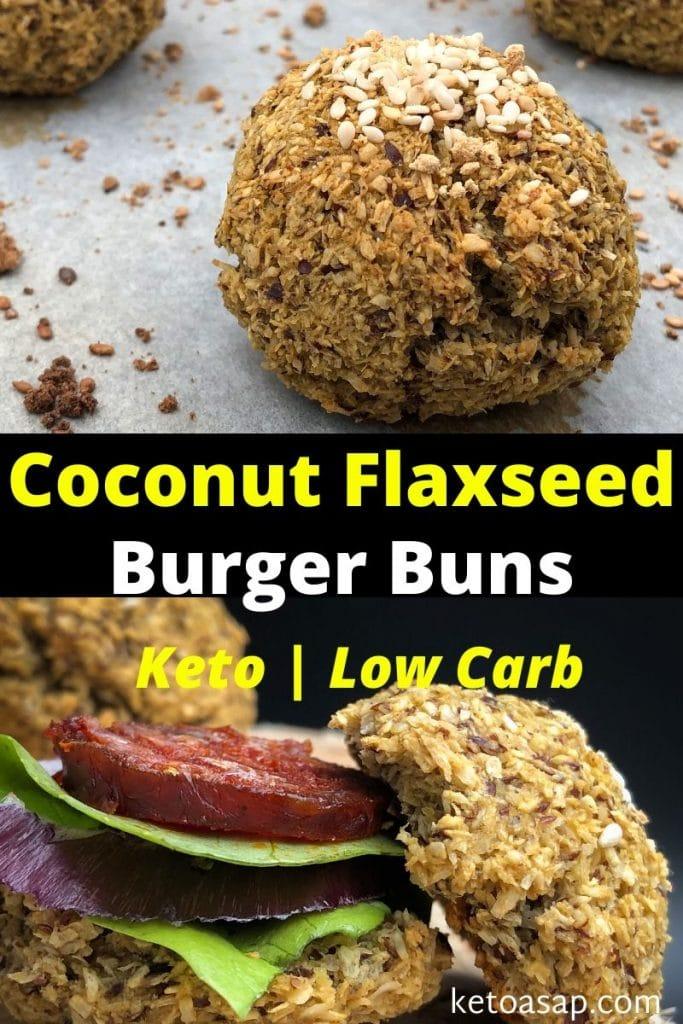 coconut flaxseed burger buns recipe