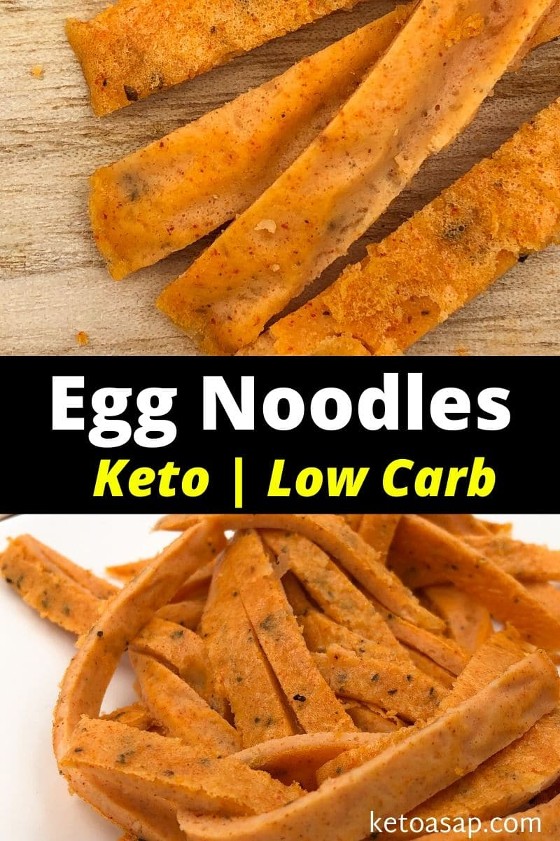 Keto Baked Cheesy Egg Noodles