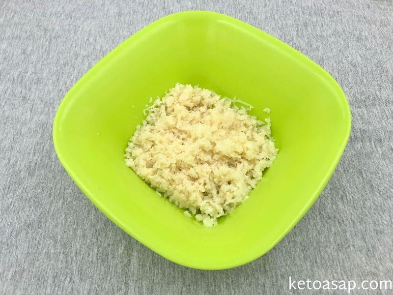 grate cauliflower sit 15 minutes