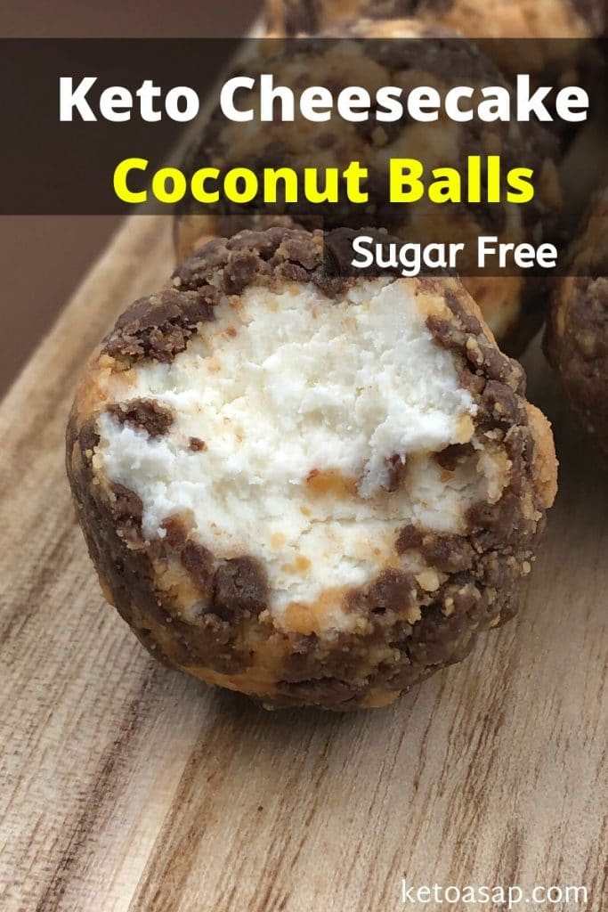 keto cheesecake coconut balls
