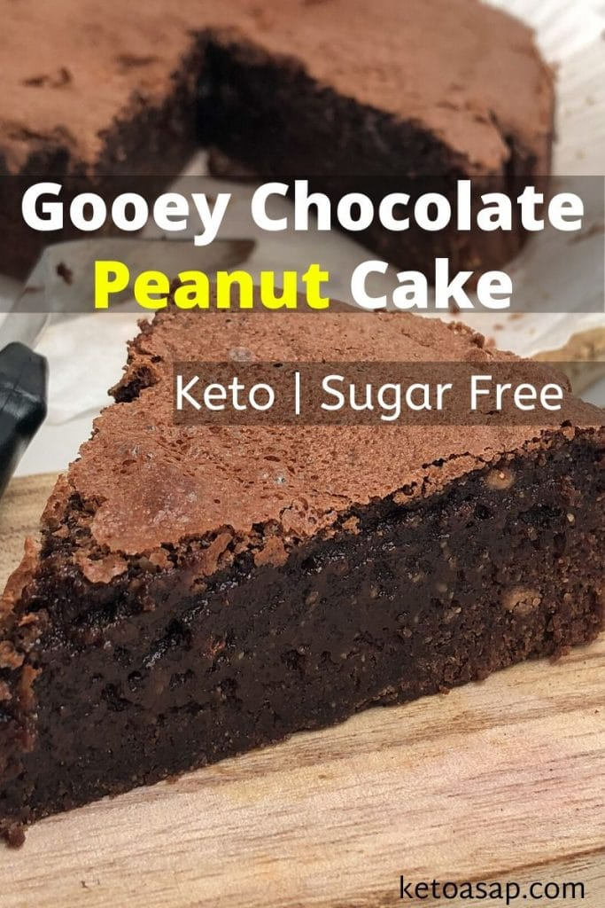 keto gooey chocolate peanut cake