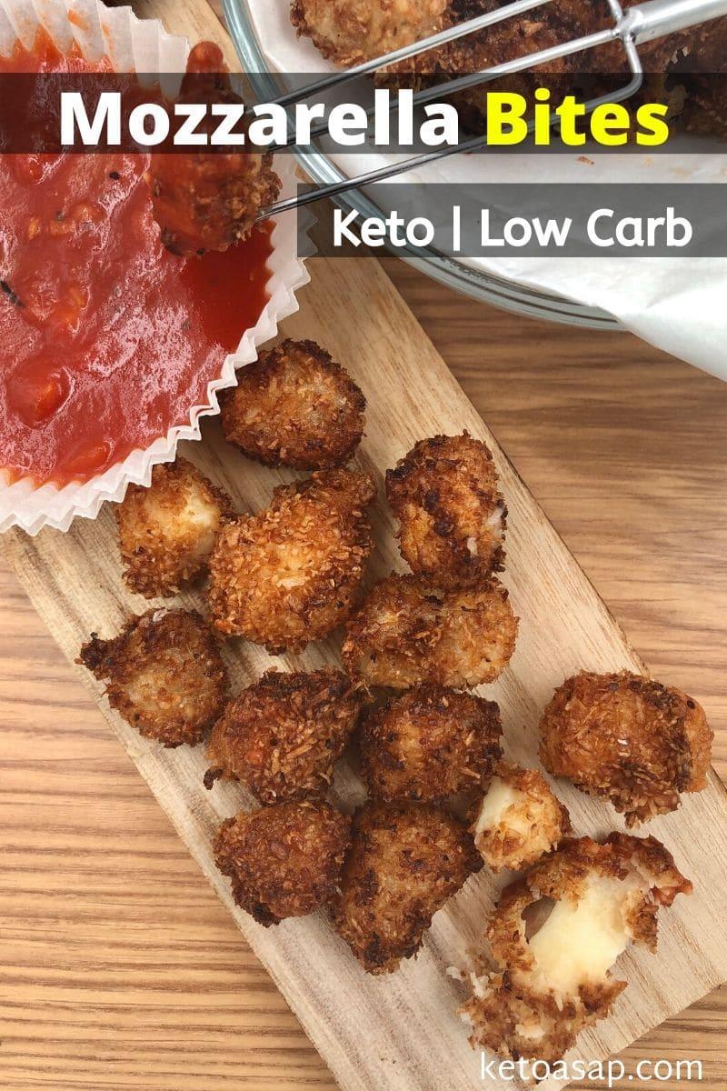Keto Fried Mozzarella Cheese Balls Low Carb Recipe