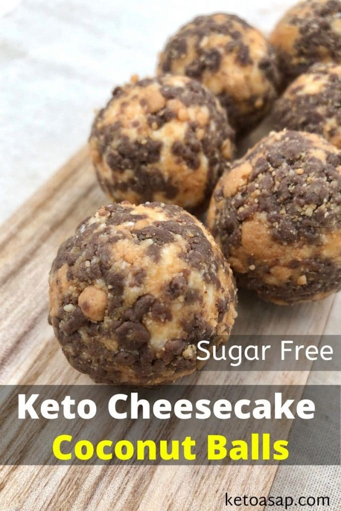 low carb cheesecake coconut balls