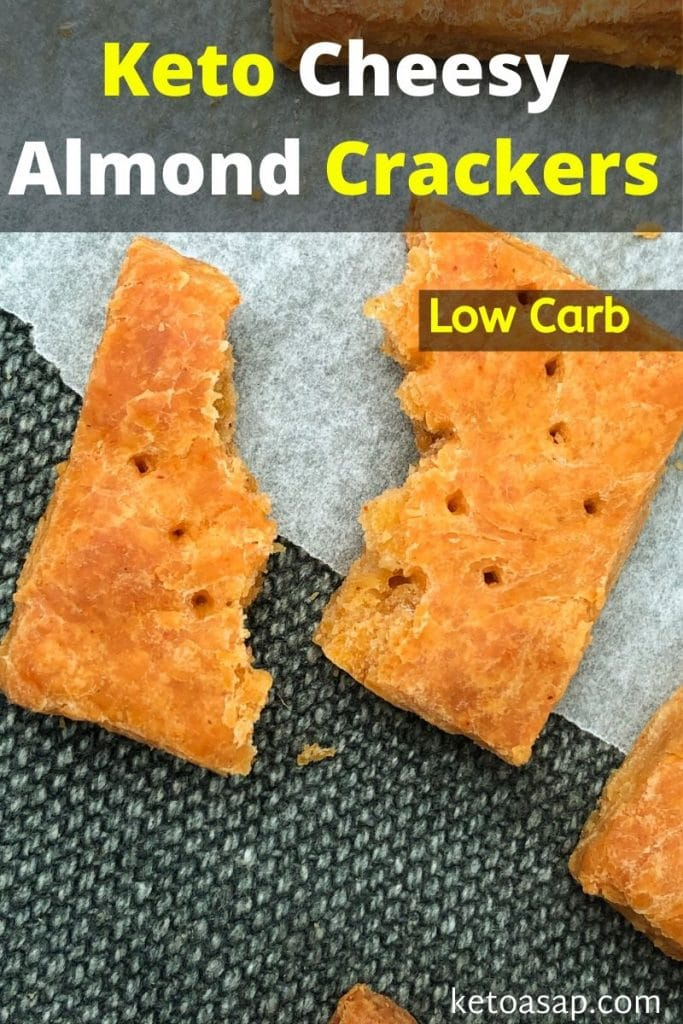 low carb cheesy almond crackers