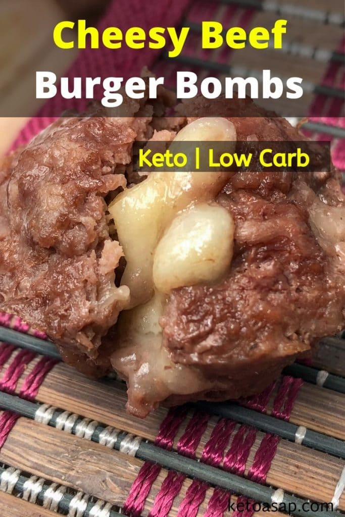 low carb cheesy beef burger bombs