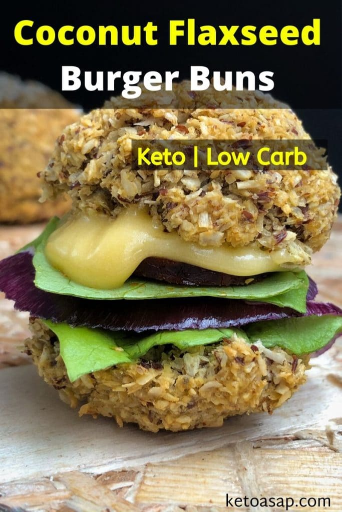 low carb coconut flaxseed burger buns