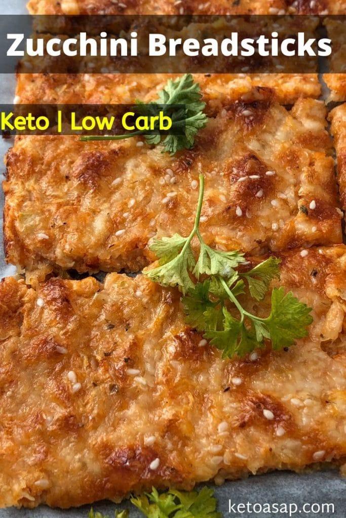 low carb zucchini breadsticks