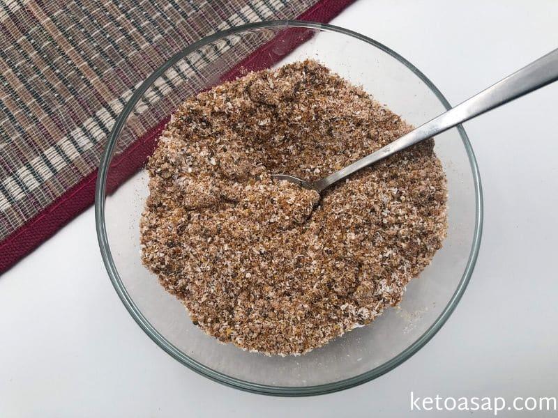 mix cocoa coconut chia flaxseed
