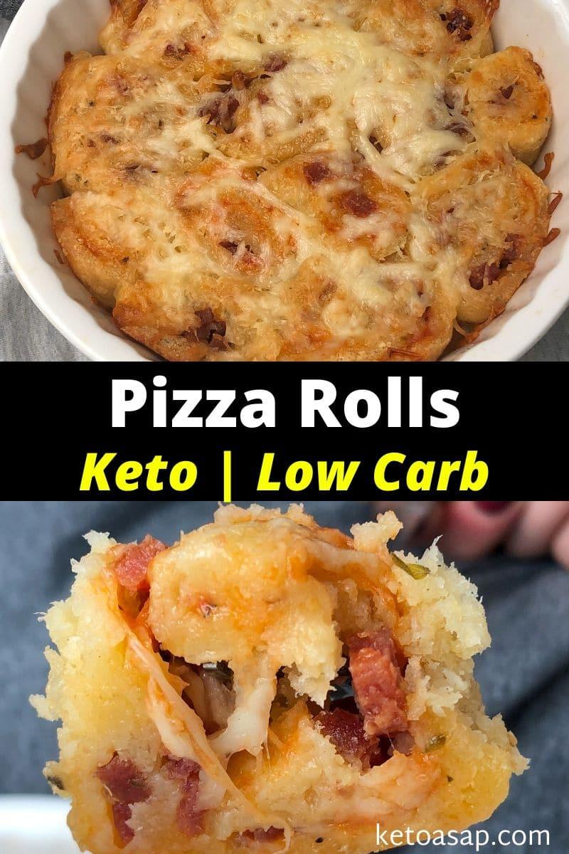 Keto Pizza Rolls with Fathead Dough