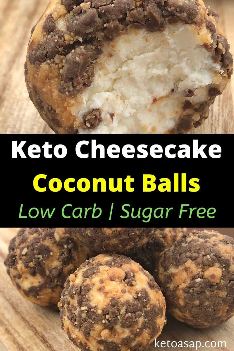Keto Cheesecake Coconut Balls Sugar-Free Low Carb Snack
