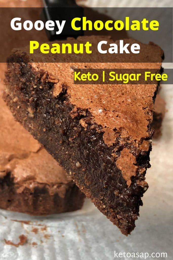 sugar free gooey chocolate peanut cake