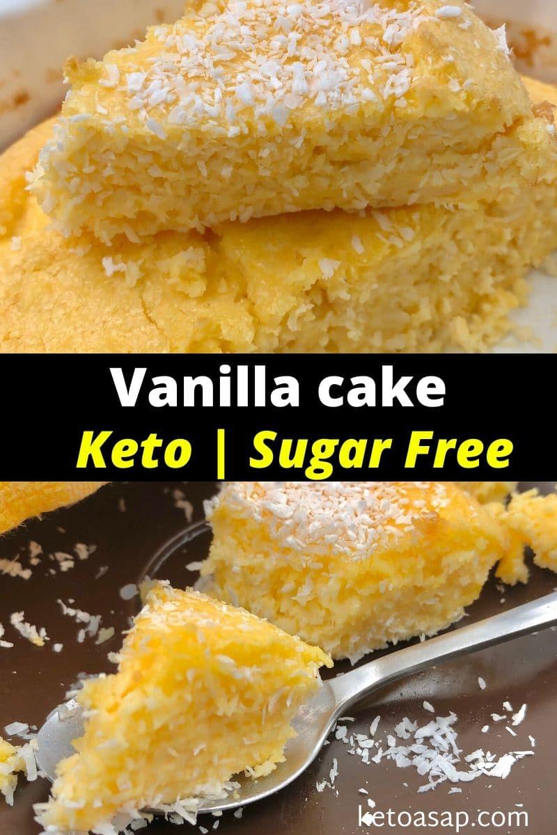 Keto Vanilla Cake - Low Carb Sugar-Free Recipe