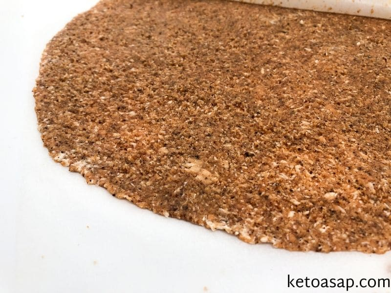 add almond flour knead dough