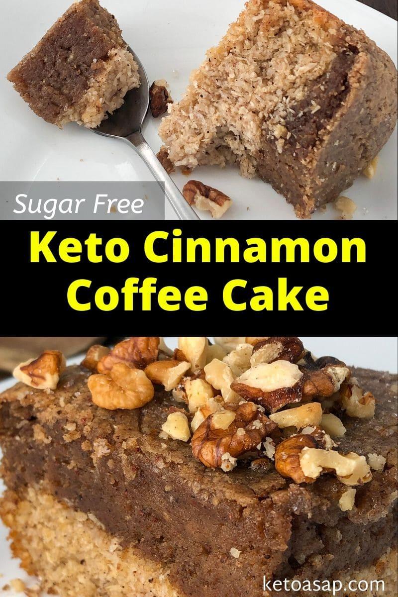 Keto Cinnamon Coffee Cake Low Carb Sugar-Free