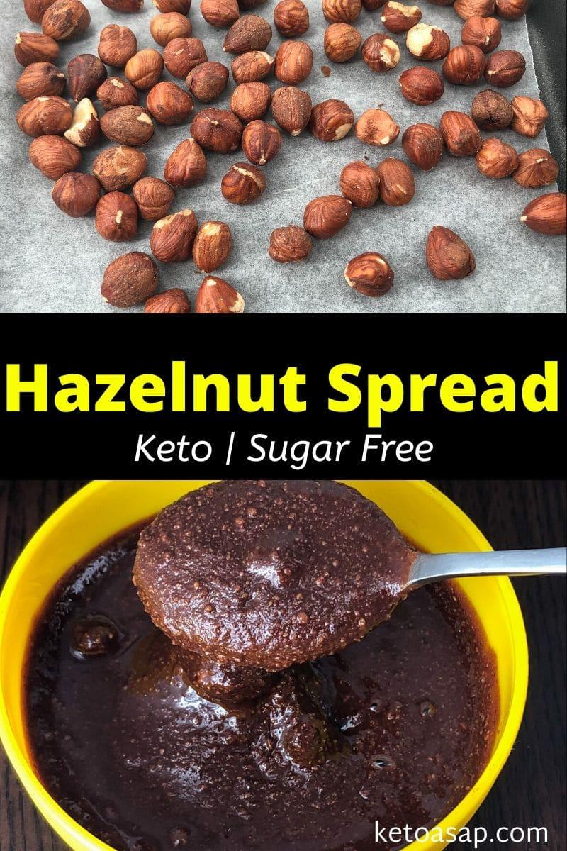 Keto Hazelnut Chocolate Spread (Nutella) Low Carb Sugar-Free Recipe
