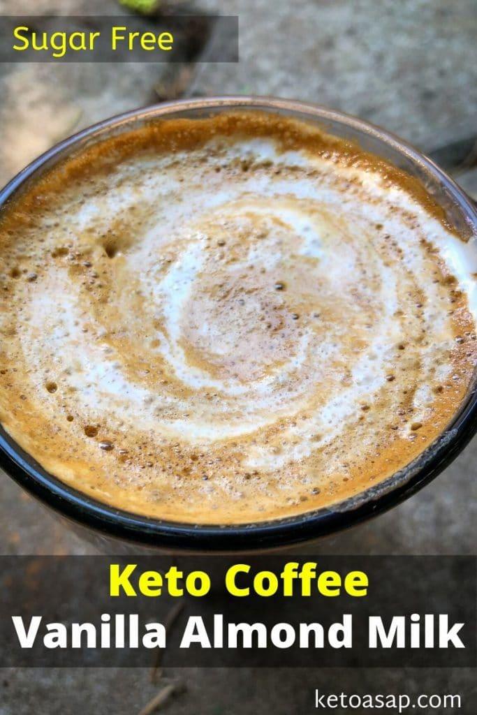 keto coffee vanilla almond milk